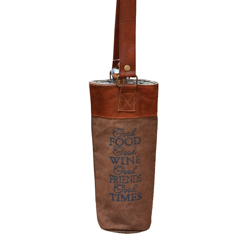 "Clea Ray - ""Good Food Good Wine Good Times"" Wine Bag"