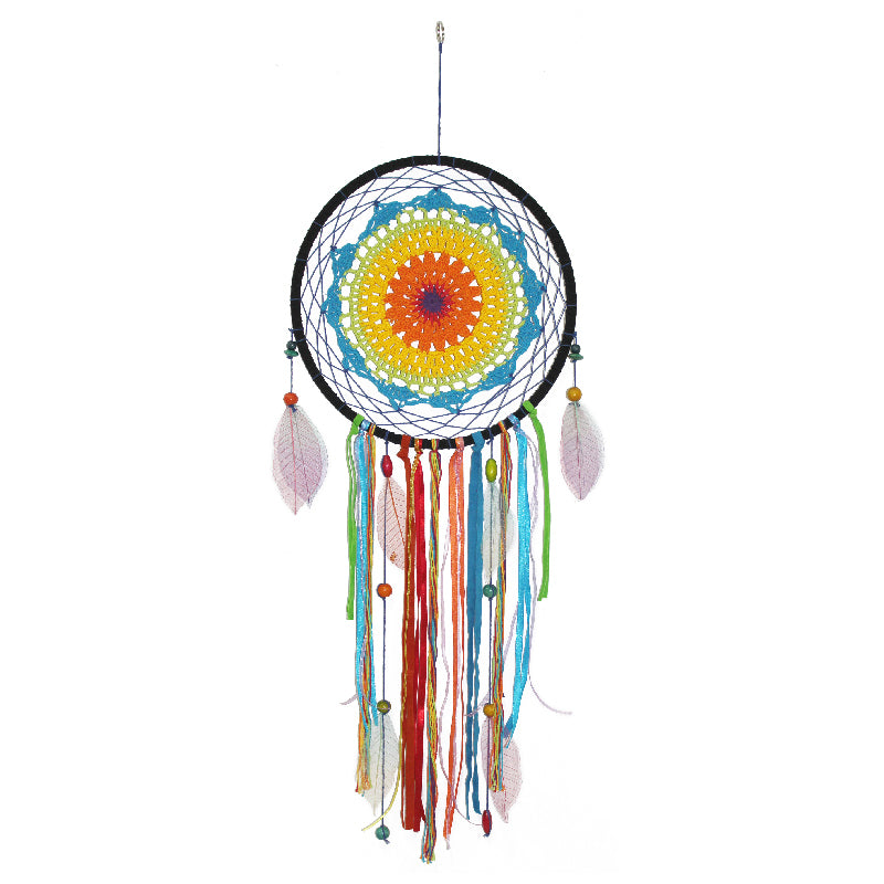 Crochet Rainbow Dreamcatcher