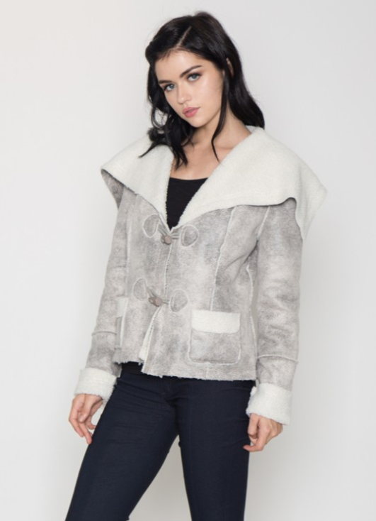 Faux Fur Aviator Jacket