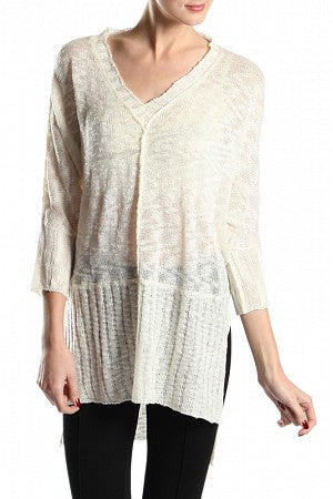 a'reve Sweater w/L. Back & Open Sides