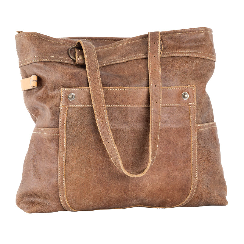Clea Ray - All Leather Shoulder Tote