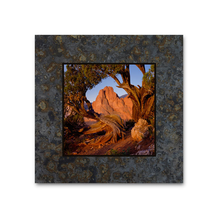 South Gate Rock, Garden of the Gods 4x4 Slate Coaster