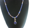 Lapis & Amethyst Pendant Necklace