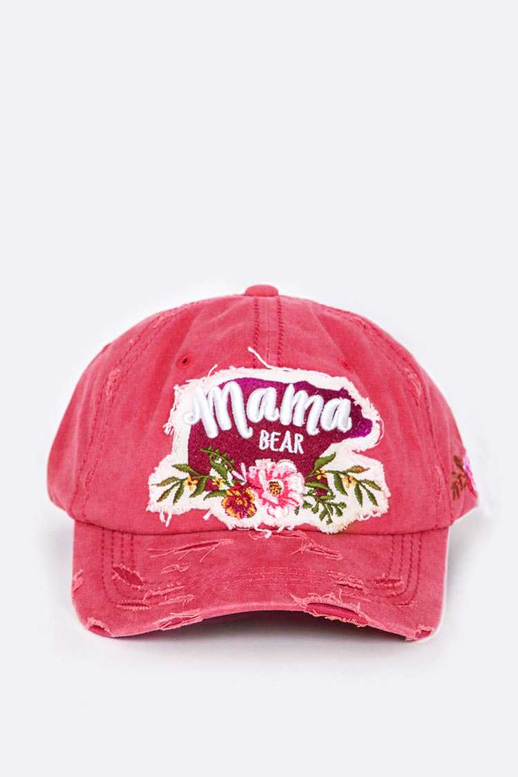 Mama Bear Embroidery Hat