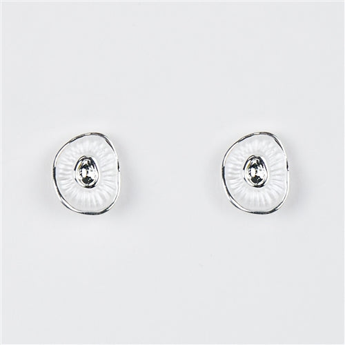 White Oyster Earrings