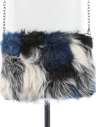 Faux Fur Crossbody Clutch
