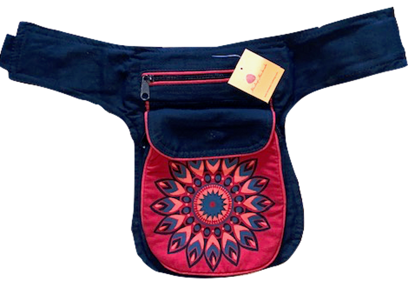 Himalaya Handmade Flower Print Cotton Hip Pack
