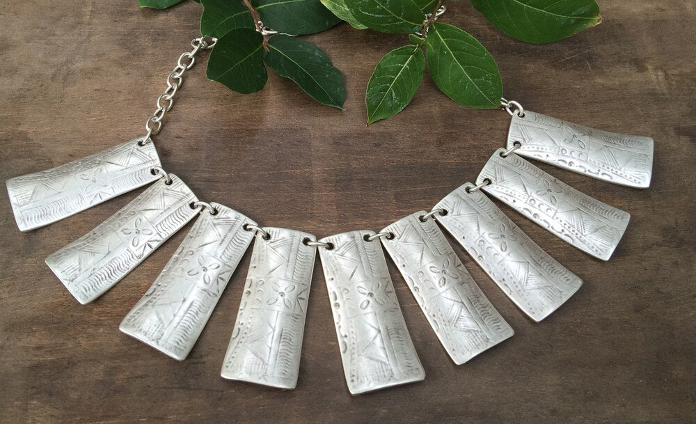 Textured Block Necklace