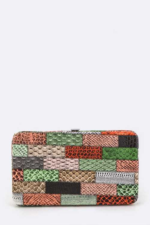 Snake Skin Stitches Photo Wallet