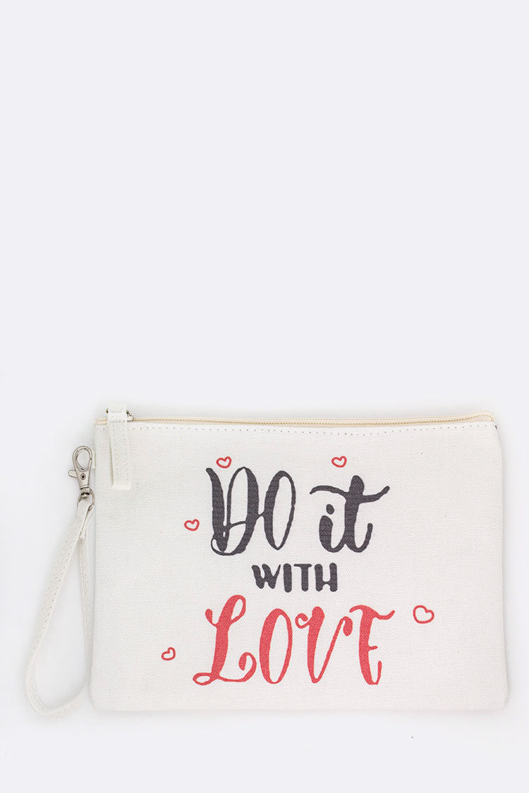 Do It With Love Wristlet Pouch
