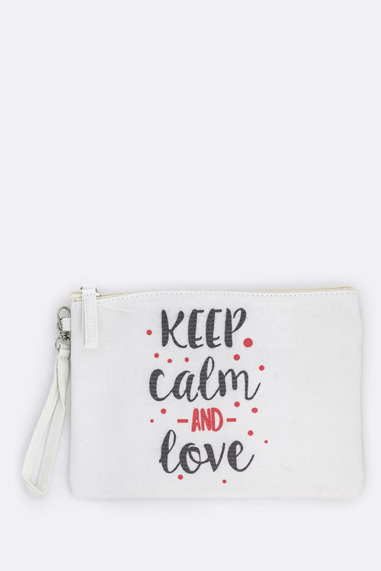 Keep Calm Wristlet Pouch