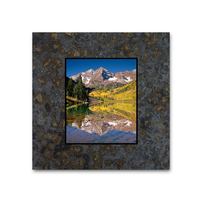 Reflection at the Maroon Bells 4x4 Slate Coaster