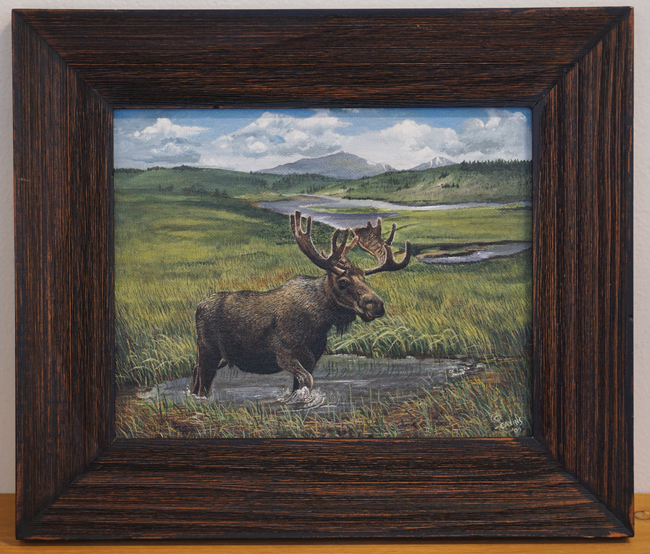 """Lamar River Valley Moose- Yellowstone"" by Nancy Cavins"