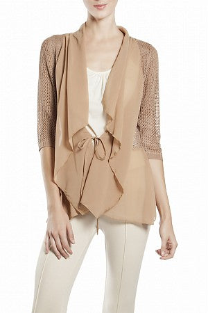 Jacket w/Chiffon Ruffled Front - On SALE!