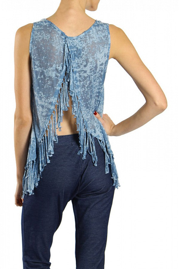 Burn Out Top w/Fringe