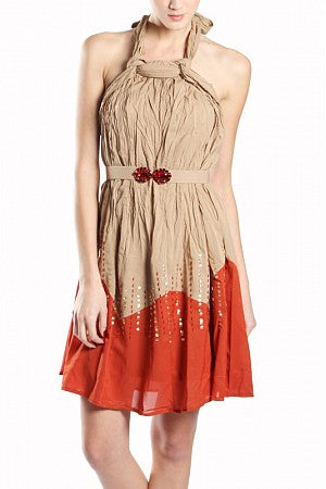 Halter Dress w/Sequins - On SALE