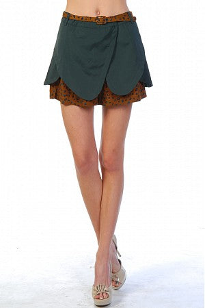 Ryu Scalloped Shorts w/Print Hem- ON SALE!