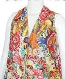 Multi Color Paisley Scarf Vest