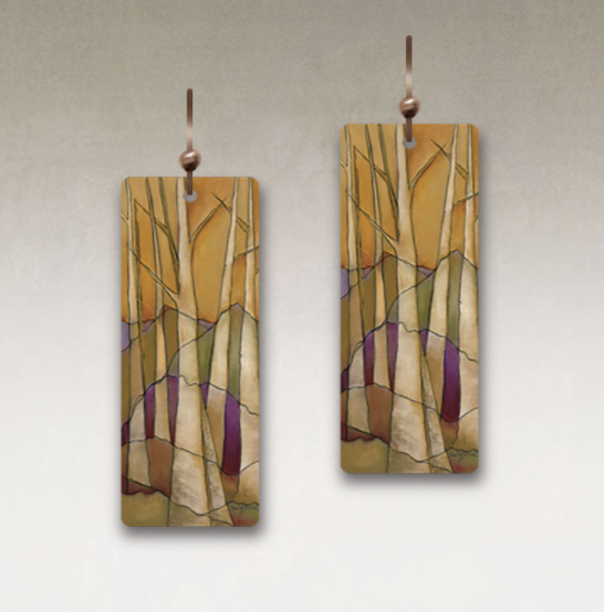 DC Designs - SH08CE Rectangle Earrings