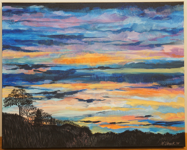 """Sundown on the Hills"" by Holly Strack"