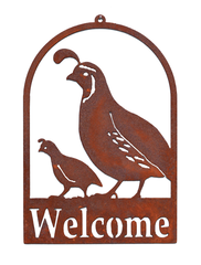 Welcome Sign - Roundtop Quail & Chick