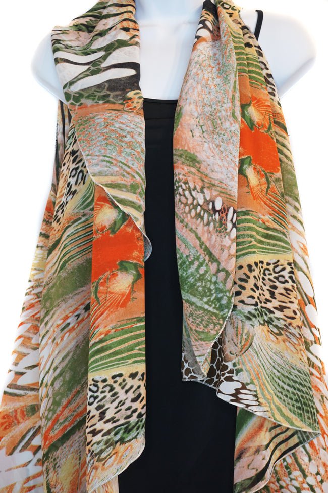 Digital Animal Scarf Vest