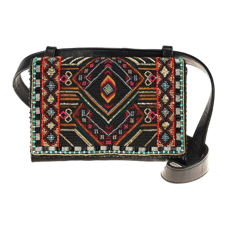 Mary Frances Vortex Crossbody Beaded Purse
