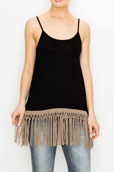 Cami with Fringe Layers