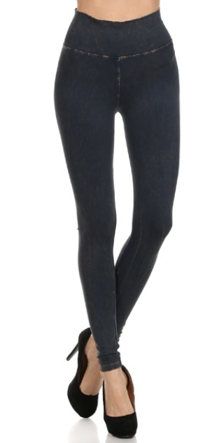 TParty Mineral Wash Straight Leggings