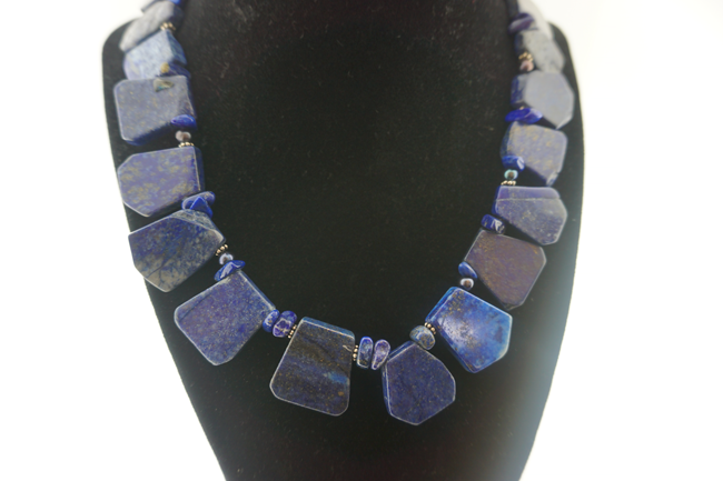 Lapis Petal Necklace
