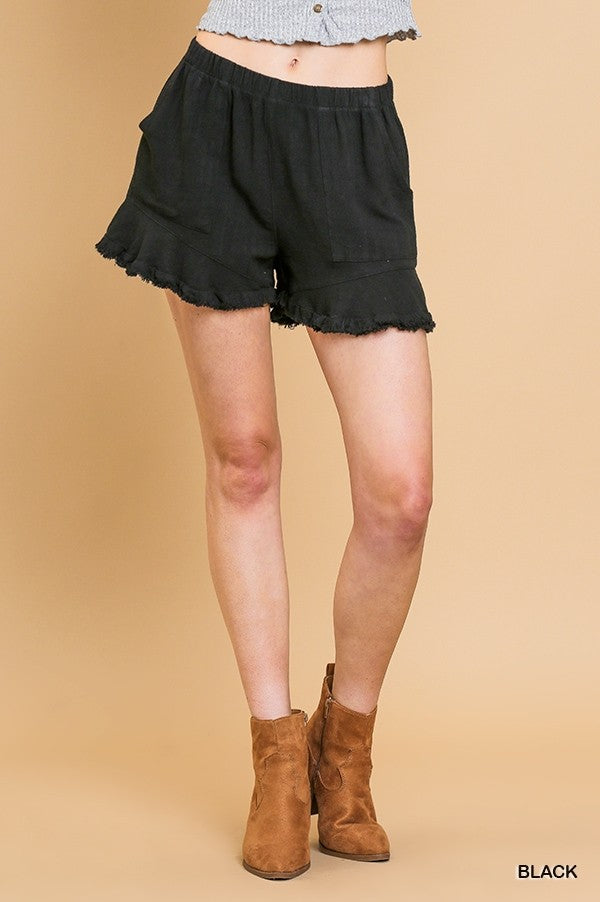 Ruffle Trim Shorts - On SALE!!