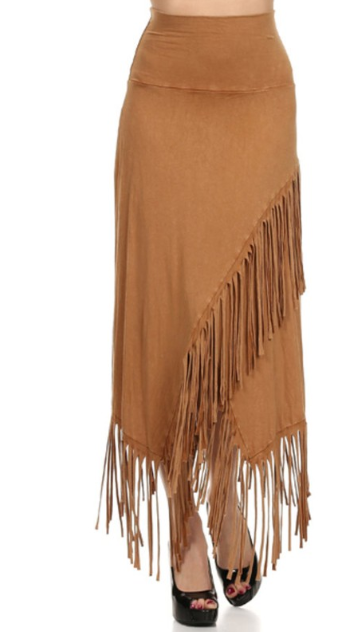 TParty Fringed Maxi Skirt