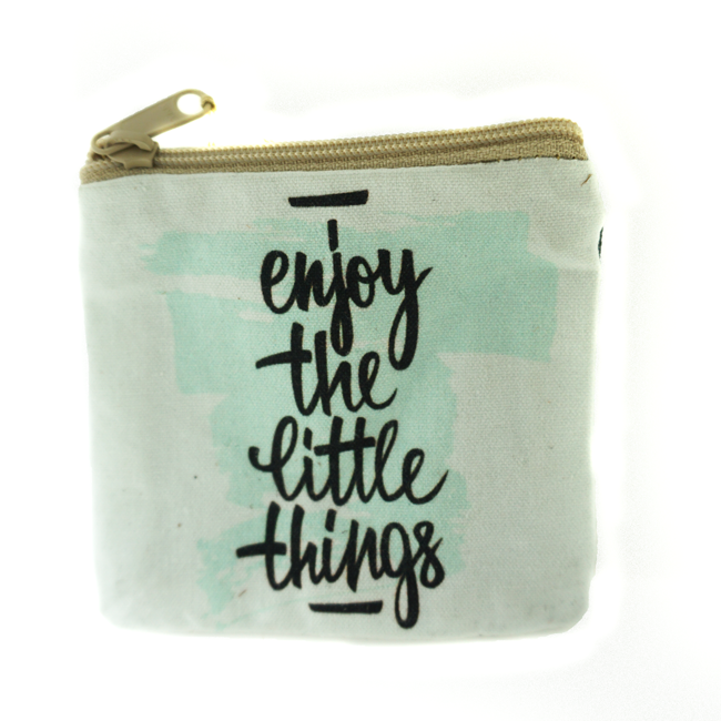Enjoy Little Things Coin Purse White