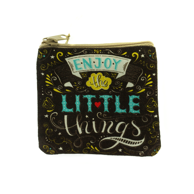 Enjoy Little Things Coin Purse Dark