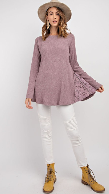 Crochet Side Thermal Top
