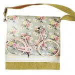 Floral Bicycle Messenger Bag