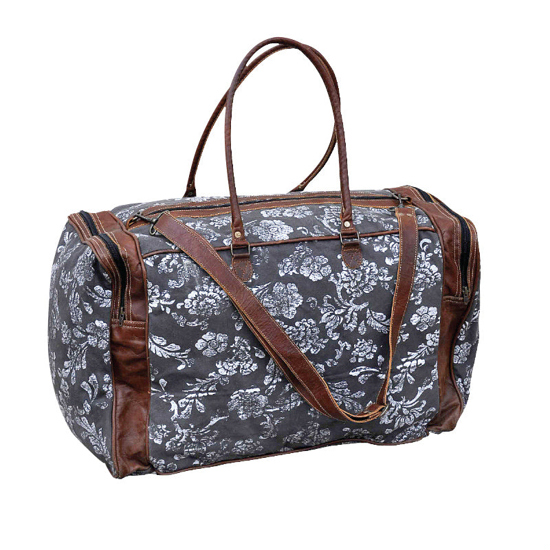Clea Ray - Flower Print Duffle Bag