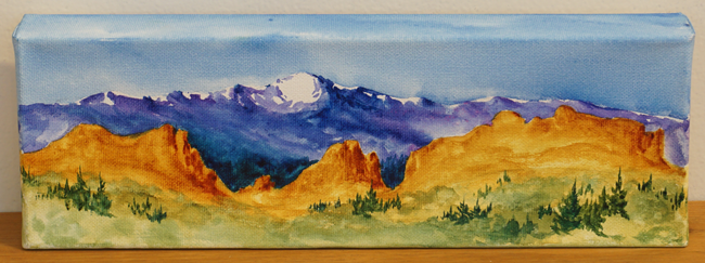 """Pikes Peak and Garden or the Gods"" by Kristin Colvin"