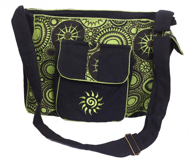 Himalaya Handmade Patterned Cotton Bag with Sun Embroidery - ON SALE