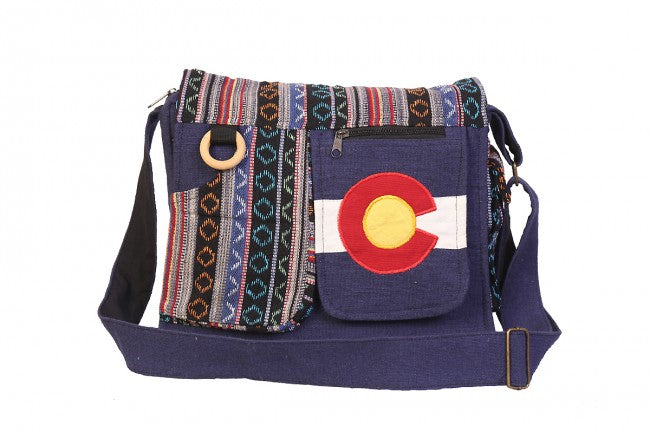 Himalaya Handmade Patterned Colorado Flag Cotton Bag