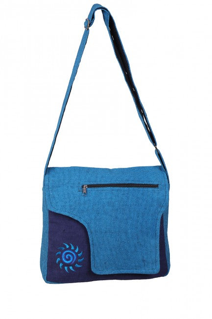 Himalaya Handmade Cotton Messenger Bag with Sun Embroidery