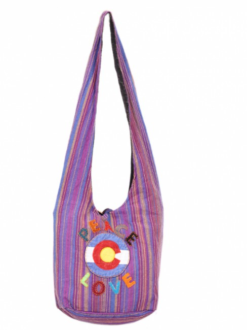 Himalaya Handmade Peace Love Colorado Cotton Bag