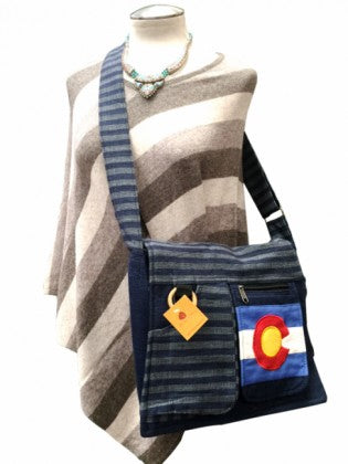 Himalaya Handmade Colorado Flag Cotton Messenger Bag