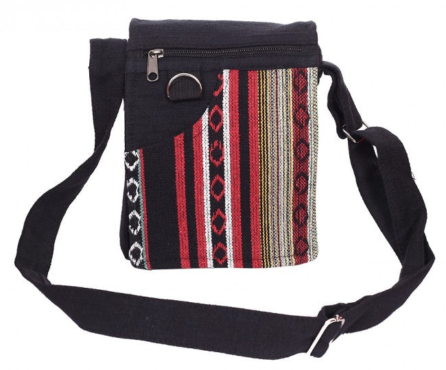 Himalaya Handmade Patterned Vertical Stripe Front Passport Bag