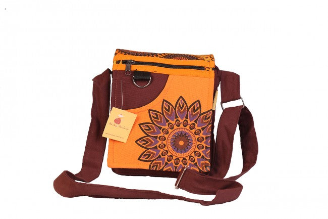 Himalaya Handmade Corner Flower Passport Bag