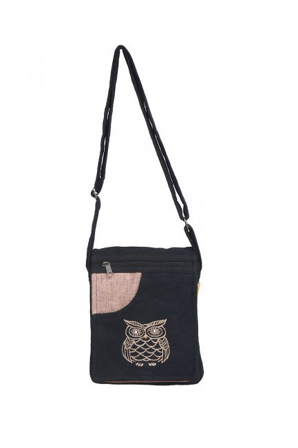 Himalaya Handmade Owl Passport Bag