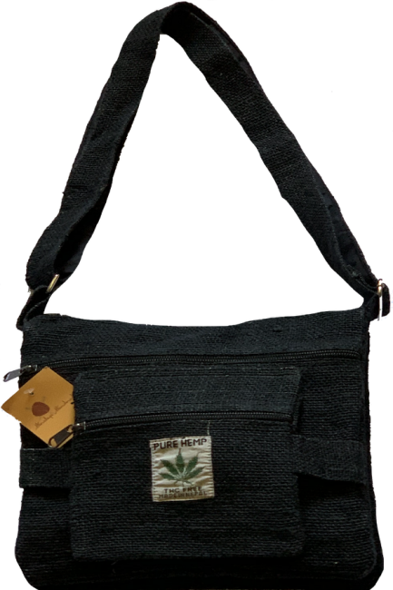 Himalaya Handmade Seven Pocket Pure Hemp Bag