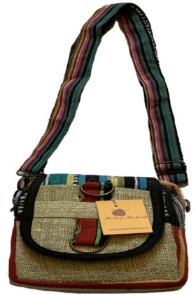 Himalaya Handmade Hemp/Gheri Cotton Passport Bag