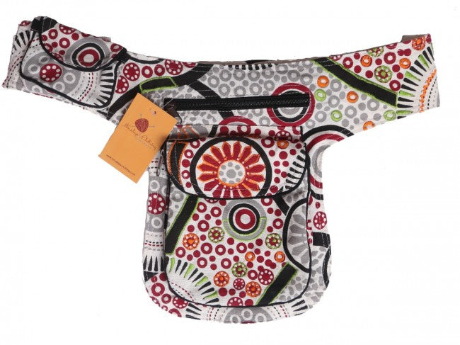 Himalaya Handmade Floral and Geometric Print Cotton Hip Pack