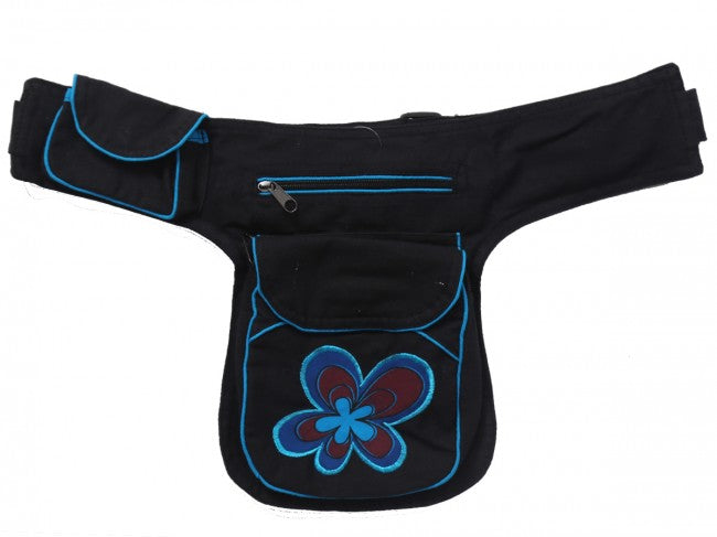 Himalaya Handmade Embroidered Flower Hip Pack